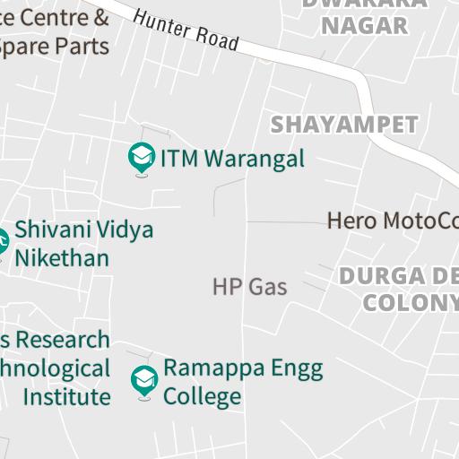 tour operator and travel agent near warangal, telangana on map with